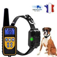 Collier de dressage électrique Anti-aboiement pour chien 800M LCD étanche Notice