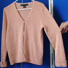 JOSEPHINE CHAUS Cardigan SWEATER with CUFFS Sz M WASHABLE Salmon