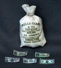 """1:6 scale """"WELLS FARGO"""" money bag"""