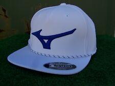 Mizuno Running Bird Rope Structured Golf Hat Cap White & Blue Adjustable OSFA