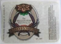 BELGIANATOR ALE Beer STICKER label, Eastern Shore Brewing, St Michaels, MARYLAND