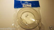 Valueline Câble HDMI 1.4 (Plat), 3 m HDMI - HDMI, résolution 4K, 3D, Blanc,