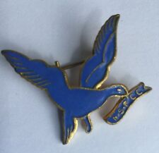 Vintage 1960s NSPCC Blue Bird Volunteer - Collectable Enamel Metal Pin Badge