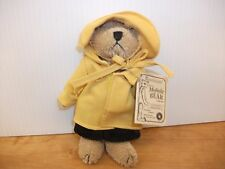 "Boyds Bears Mohair Bear Collection Nantucket P Bearington 5"" Raincoat NEW 590102"