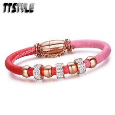 Crystal Stainless Steel Chain Fashion Bracelets
