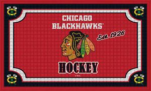 Team Sports America Chicago Blackhawks Embossed Floor Mat, 18 x 30 inches