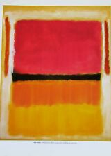 Mark Rothko Violet Black Orange Yellow on White and Red Poster  14x11