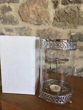 Rotary, Spinning Snowflake Tealight Hurricane Lamp