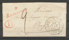 1832 Lettre Cursive 9 Ramerupt AUBE(9) + 1D rouge Superbe. X2131