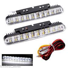 2PCS 30 LED CAR DAYTIME RUNNING LIGHT DRL WITH TURN SIGNAL INDICATORS BLUB S5X6