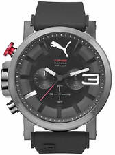 Men's Puma Ultrasize Black And Grey Silicone Chronograph Watch PU103981004