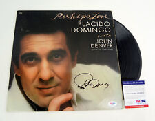 Placido Domingo Signed Autograph Perhaps Love Vinyl Record Album PSA/DNA COA