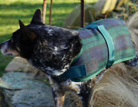 Hugglehounds WOOL DOG JACKET COAT Black Watch Plaid XS-XXL