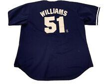 Vintage Majestic BERNIE WILLIAMS No. 51 NEW YORK YANKEES Button-Down (XL) Jersey