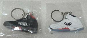 Jordan 5 Supreme Keychain Nike Jordan collectable Keychain set of 2 Black White