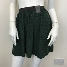 Atmosphere Ladies Green Black Textured Patterned Skater Style Skirt UK Size 8