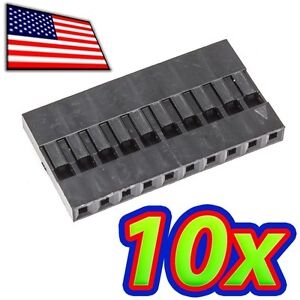 [10x] Dupont  Wire Jumper Pin Header Connector Housing - 1x10 - Male / Female