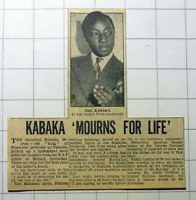 1953 Kabaka King Of Buganda In Mourning Over The Death Of Sister