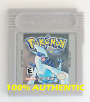 ORIGINAL AUTHENTIC Pokemon Silver Version Can Save New Battery Gameboy Color