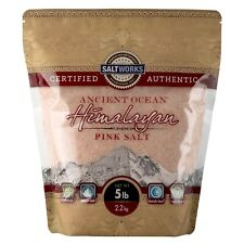 SaltWorks Ancient Ocean Himalayan Pink Salt, 80 Ounce Fine 5 Pound (Pack of 1)