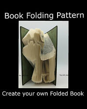 Dog Cartoon,  Book Folding PATTERN to create your own folded book art