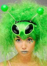 Alien Girl Antenna Green Head Boppers on Headband