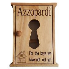 Personalised Key Cupboard - For The Keys We Have Not Lost Yet, Wood Storage Box