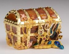 Treasure Box trinket box hand made by Keren Kopal & Austrian crystals Faberge