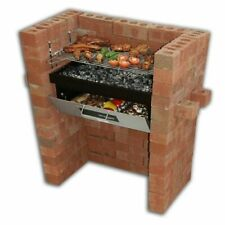 Built In Grill & Oven Brick Stone BBQ DIY Kit Charcoal Outdoor Barbecue