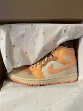 Nike Air Jordan 1 Mid Apricot Orange UK6