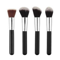 NEW Soft Synthetic Large Cosmetic Blending Foundation Silver Makeup Brush XL