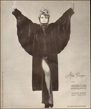 1984-Alik Singer`Fur Coat Natural Blackglama`Magazine Print Ad