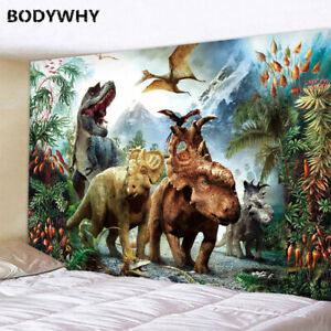 2020Dinosaur Wall Mounted Tapestry Sheet Home Decor Beach Towel Yoga Mat Blanket