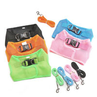Puppy Dog Cats Vest Type Harness Collar Mesh Breathable Pet Walking Leash Well