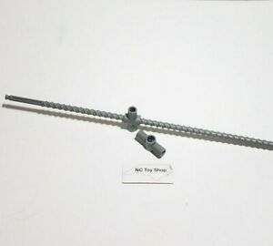 Rare K'NEX Gray Threaded Rod, 2 Carriage Pieces Control Crane Special Parts KNEX