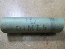 Roll Of 50 UNC BU 1964 D ROOSEVELT DIMES IN THE ORIGINAL SHOTGUN ROLL