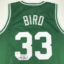 Autographed/Signed LARRY BIRD Boston Green Jersey Athlete Hologram COA Auto