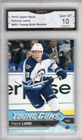 GMA 10 Gem Mint PATRIK LAINE 2016/17 UPPER DECK Young Guns ROOKIE Card JETS!