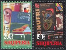 Albania 2003 Poster Art/Piano/Music/Apple/Ceramics/Eye/Animation 2v set (n31246)