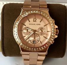 Michael Kors Dylan Rosegold Glitz Chronograph Watch