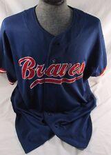 Vintage Atlanta Braves Andruw Jones #25 Baseball Starter Sewn Jersey Blue XXL