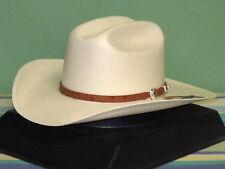 STETSON EL NOBLE GENUINE 500X SHANTUNG PANAMA STRAW COWBOY WESTERN HAT