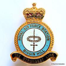 RAF Biggin Hill Station Royal Air Force Smalto Spilla Distintivo Bromley Kent 2