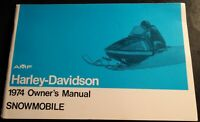 VINTAGE 1974 AMF HARLEY-DAVIDSON SNOWMOBILE OWNERS MANUAL NICE (341)