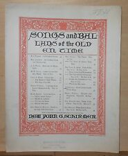 Rock'd in the Cradle of The Deep - 1897 large sheet music, Ballad of Olden Times