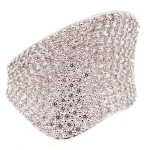 SheCrown Elegant Pink Kunzite Woman's Engagement Silver Ring 6.0