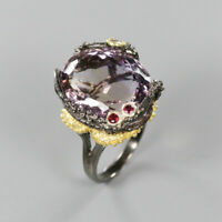 Natural Ametrine 925 Sterling Silver Ring Size 8/RR17-1307