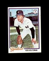 Ken Holtzman Hand Signed 1978 Topps New York Yankees Autograph
