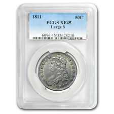 1811 Capped Bust Half Dollar XF-45 PCGS (Large 8) - SKU#174512