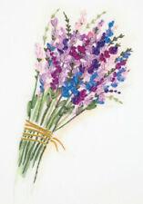 Lavender Bunch Embroidery Kit by Panna- living picture- ribbon stumpwork JK-2132